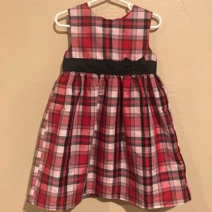 Adorable Holiday Red Party Plaid Dress